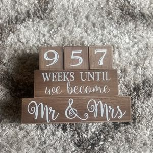 Other - Wedding Block count down ( Weeks and Days)